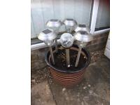 Set of five garden lights colour changing plus 1 free