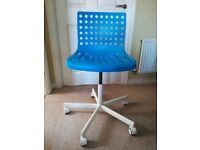 Blue home office chair