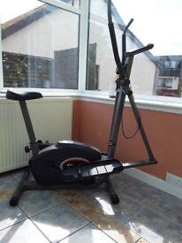 Cross trainer exercise bike