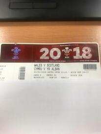 2x Wales vs Scotland rugby tickets