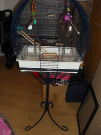 BIRDCAGE WITH STAND