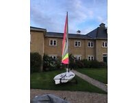 Byte sailing dinghy, full rig, launch trailer, cover, great condition.