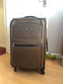 Large Olympia suitcase 60cm olive green