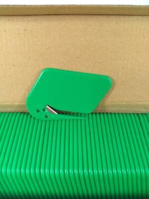 50 Plastic Safety Envelope Opener Slitters Letter Mail Opener Green Nib