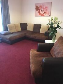 Corner sofa with chair selling because moving