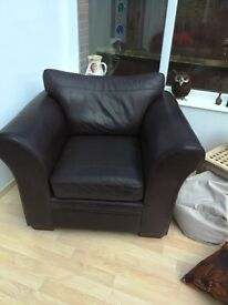 FREE Brown leather armchair - real leather from Next
