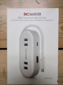 BC Master USB-C to 4-Port USB 3.0 Hub with HDMI BCM-HC05