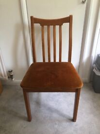 Wooden Chair with cushion seat x4
