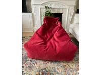 Super comfy bean bag red - B BAG