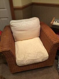 M & S solid rattan conservatory sofa and chair