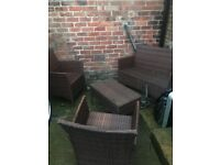 Garden furniture rattan set