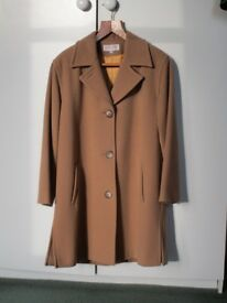Beautiful 3/4 Length Wool and Cashmere Camel Coat