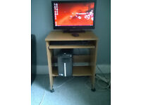 Packard Bell iMedia S3720 mini tower pc with desk and chair