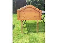 Pine Headboard Single Bed