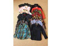 Large bundle of boys shirts age 3-4 mainly Next