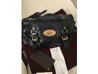 Black Leather Mulberry Alexa Bag
