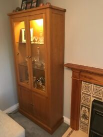 Haskins light Oak Modern wall unit