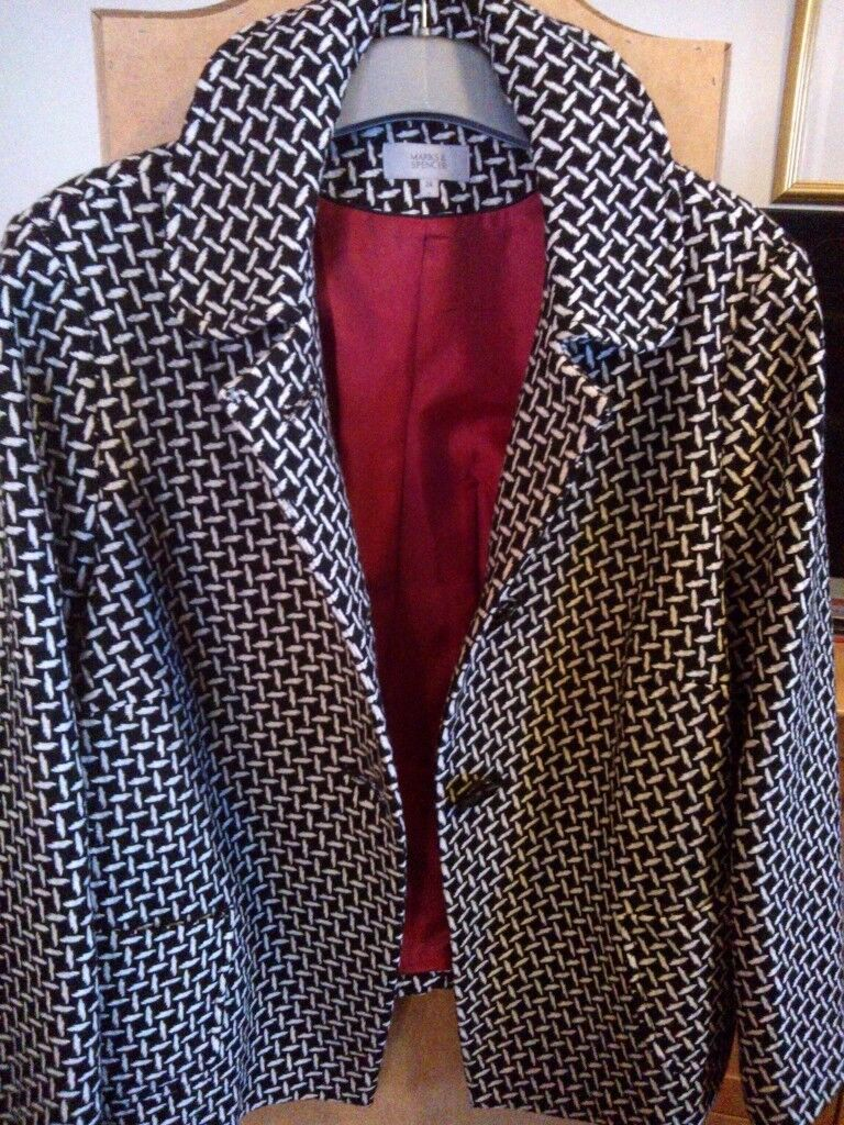 Brand new without tag. M&S black and white jacket.