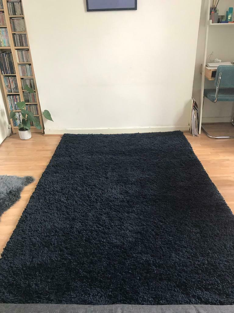 Large Navy Blue Lush Thick Pile Wool Heals Rug In Camden London Gumtree