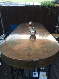 Large copper table nearly 3mtrs