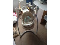 Graco Baby Swing with Lamb Mobile