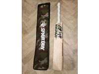 SH Plain Cricket Bat Grade 2/3, 2lb 11 New as pictured with Spartan MSD LE stickers