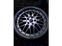 19 inch bbs lm reps 5x100 need 2 tyres and and polish just on rim edge as has scratches .easy job