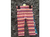 Baby girl leggings set of 2 size 9-12 months