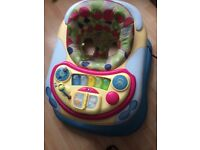 Hardly used chicco baby walker..and ride on