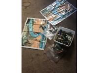 Box of army soldiers,tanks and planes etc