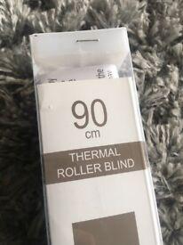 Crushed velvet roller blind