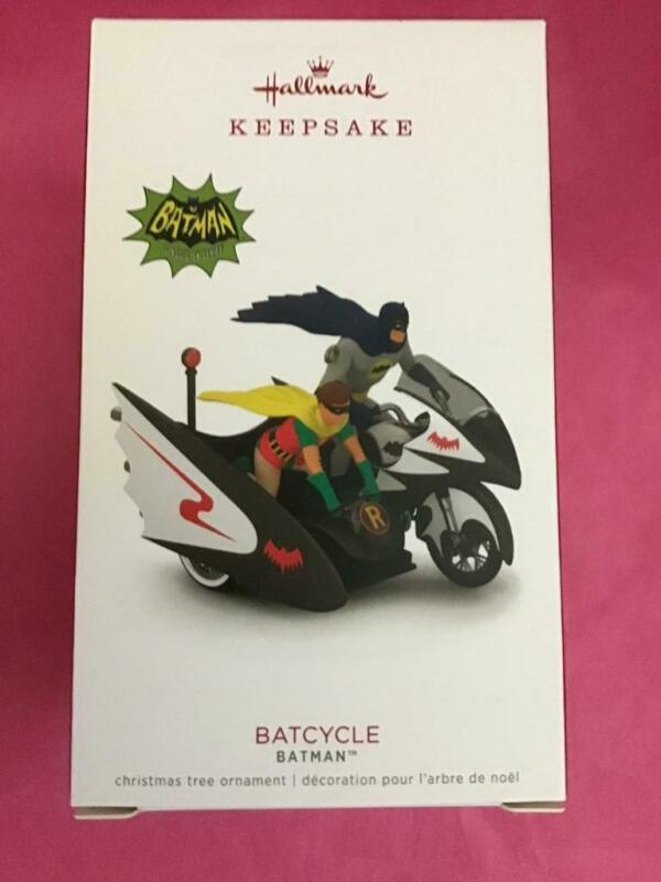Hallmark Keepsake Ornament 2018 Batcycle Batman Robin Classic TV Motorcycle New
