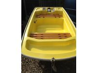 AS NEW BOAT TENDER - superb little boat , tender or fun use. Engine and Trailer included
