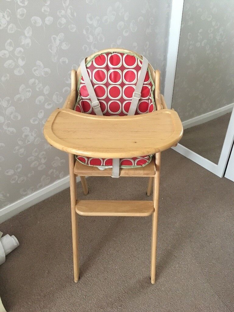 East Coast Wooden high chair with insert