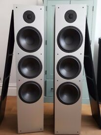 Fantastic floor speakers for audiophiles with matching bass tuning module - mint condition
