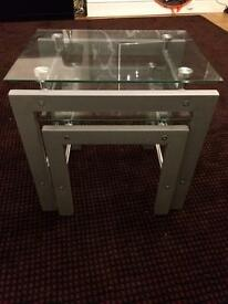 Nest of tables glass VGC