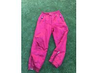 Excellent condition RED not pink as they look size 18 ladies/women's ski trousers aka Snow Pants