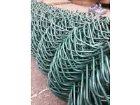 New roll of 50 mm chainlink for sale in dark green. 20 mtres long and never been used