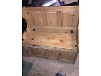 Shabby chic style solid pine monks bench project