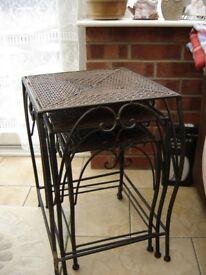 set cast iron tables