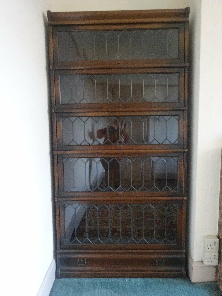 2 Antique Globe Wernicke Stacking Barrister Oak Leaded Glass Bookcases Good Condition 5 Sections In Norwich Norfolk Gumtree