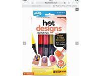 Nail art polish, pens, create your own design