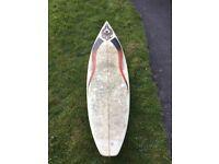 "6'4"" surfboard"