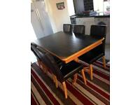Solid wood Dining table & 6 leather chairs-reduced for quick sale! Cost £300 new