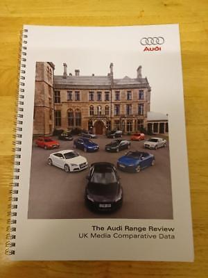 2008 Audi Range Comparative Data Brochure inc S3, TTS Coupe, S5, RS6, Q7, S8, R8