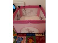 Baby playpen with extra mattress