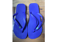 Havaianas Mens Brasil Brazil Flip Flops/Sandals Violet Purple Size UK 9-10, EUR 45-46 BRA 43-44