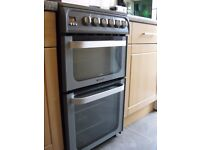 Hotpoint Ultima HUE 52 Double oven cooker (50cm)