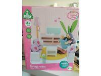 New..ELC Rosebud Village,compete living room suit.Dolls house furniture.