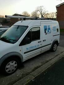 Ford transit connect 2008 window cleaning set up